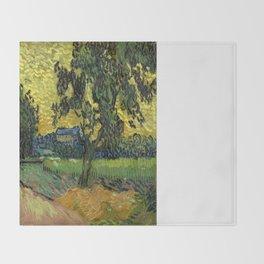 Vincent Van Gogh : Landscape at Twilight Throw Blanket