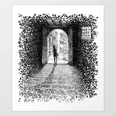 Light - Black ink Art Print