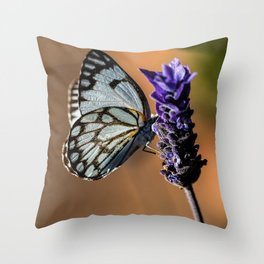 Caper White Butterfly Throw Pillow