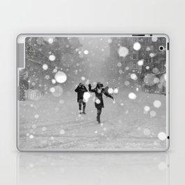 Snow in winter Laptop & iPad Skin