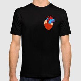Anatomical Heart Pattern T-shirt