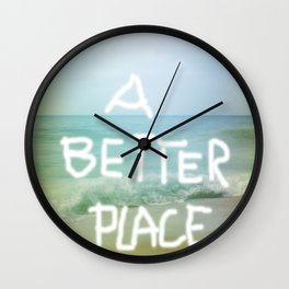 A better Place - Ocean Feeling Wall Clock