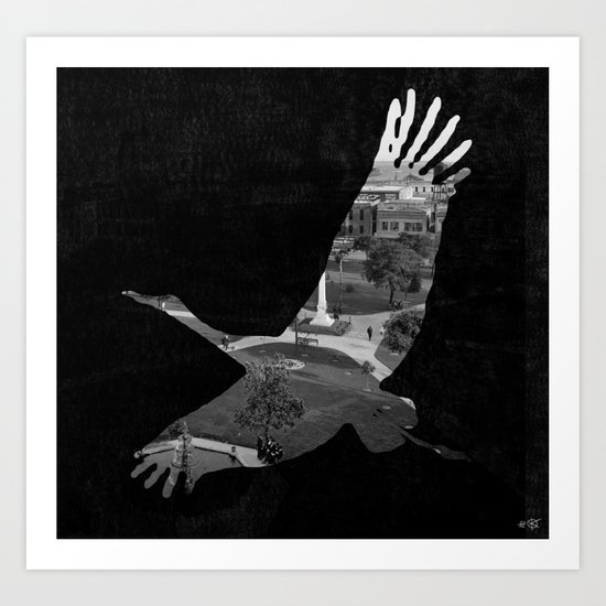 Bird City Collage Art Print