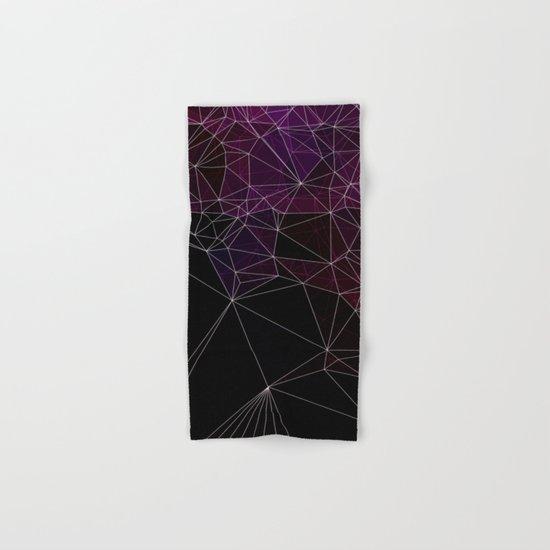 Polygonal purple, black and white Hand & Bath Towel