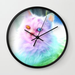 Unicorn Rainbow Cat Wall Clock