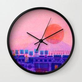 Sunset over Sienna Wall Clock
