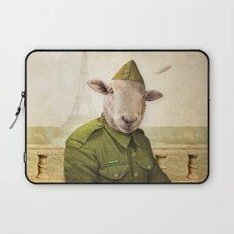 Private Leonard Lamb visits Paris Laptop Sleeve
