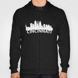 Curved Skyline Of Cincinnati OH Hoody