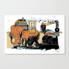 Oiliphants Canvas Print