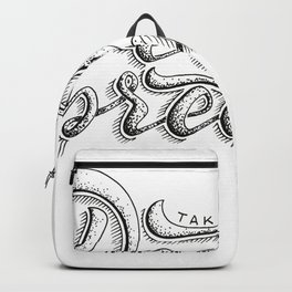 Take a deeep breath - hand lettering sketch Backpack