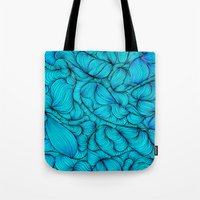 aqua Tote Bags featuring Aqua by DuckyB