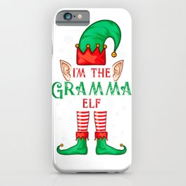 Im The Gramma Elf Matching Family Group Christmas T Shirt iPhone Case