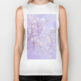 Vincent Van Gogh Almond Blossoms  Lavender Biker Tank