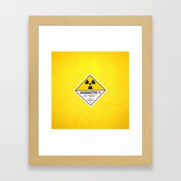 Radioactive sign Back to the future Framed Art Print
