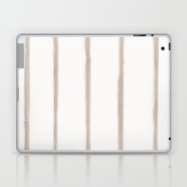 Skinny Strokes Gapped Vertical Nude on Off White Laptop & iPad Skin