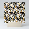 Mid Century Modern Ovals - Small Print in Black, White, Gold, Silver by elsysart