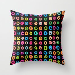 CandyDots Licorice Throw Pillow