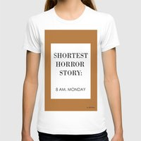 horror T-shirts featuring Horror by MrWhite