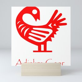 Sankofa Red Mini Art Print
