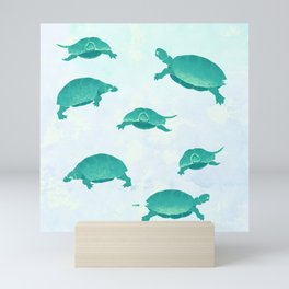 Song of the turtle- save our seas Mini Art Print