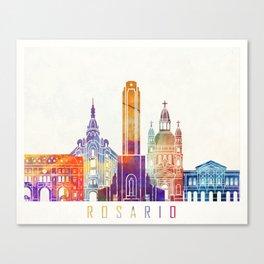 Rosario landmarks watercolor poster Canvas Print