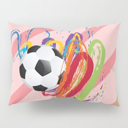 Soccer Ball with Brush Strokes Pillow Sham