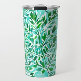 FRONDLY FRONDS Green Leaves Travel Mug