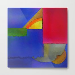 Abstract Composition 100 Metal Print