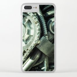 Machine Part BNW Abstract II Art Clear iPhone Case