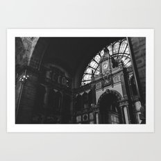 Antwerp Central Station Art Print