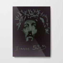 4a-Jesus-Pastel-white Metal Print