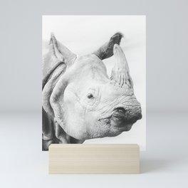 Indian Rhino Mini Art Print