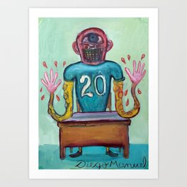 The rent collector Art Print