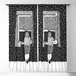 Salvador Dalí - Girl in the window Blackout Curtain