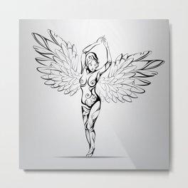 Angel Woman Metal Print