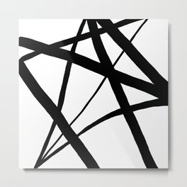 A Harmony of Lines and Shapes Metal Print