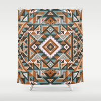 native Shower Curtains featuring Native by nate duval
