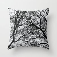 anxiety Throw Pillows featuring Anxiety by Mind-off