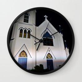 Church under the Lights Wall Clock