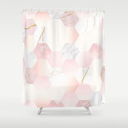 marble (Delightful color) Shower Curtain