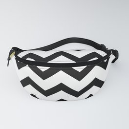 Simple Black and white Chevron pattern Fanny Pack