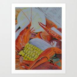 Gulf Coast Crawfish Art Print