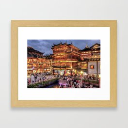 Yu Yuan garden, Shanghai Framed Art Print