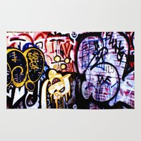 graffiti Area & Throw Rugs featuring Graffiti by Ian Bevington