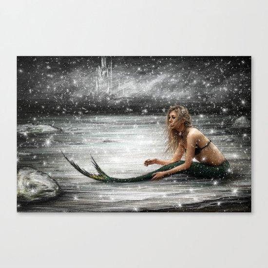 Winter Mermaid Canvas Print