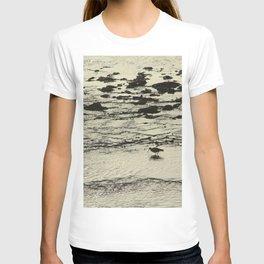 Curlew Wader Bird Rocky Seashore T-shirt