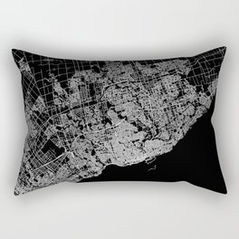toronto map Rectangular Pillow