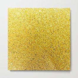 Sunshine Gold Glittery Sparkle Metal Print