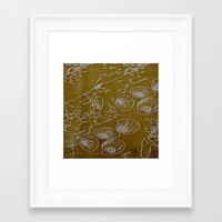 shells Framed Art Prints featuring Shells by ANoelleJay