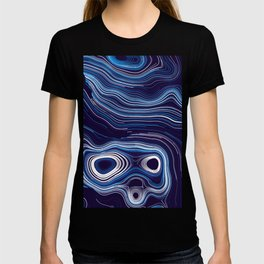 Abstract Colorful Line Wave Art Pattern T-shirt